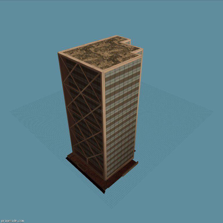 Высокое офисное здание (yet_another_sfe2) [10308] на темном фоне