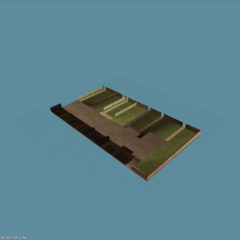 Сады и огороды за домами (OC_FLATS_GND17_SFS) [10415] на темном фоне