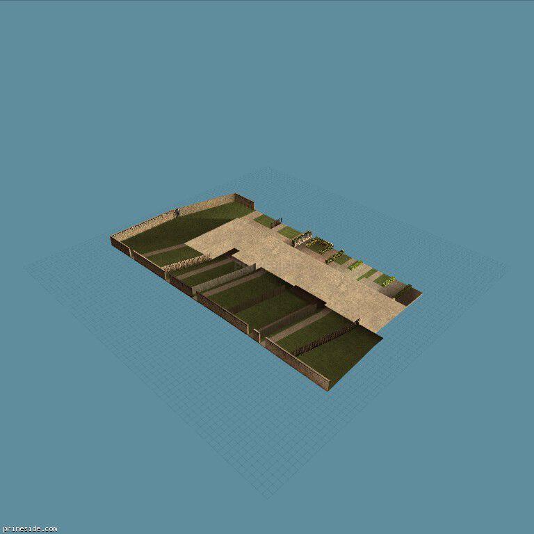 Дворы жилых домов (OC_FLATS_GND12_SFS) [10565] на темном фоне