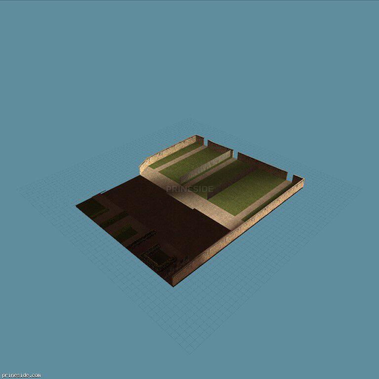 Просторный двор для нескольких домов (OC_FLATS_GND10_SFS) [10569] на темном фоне