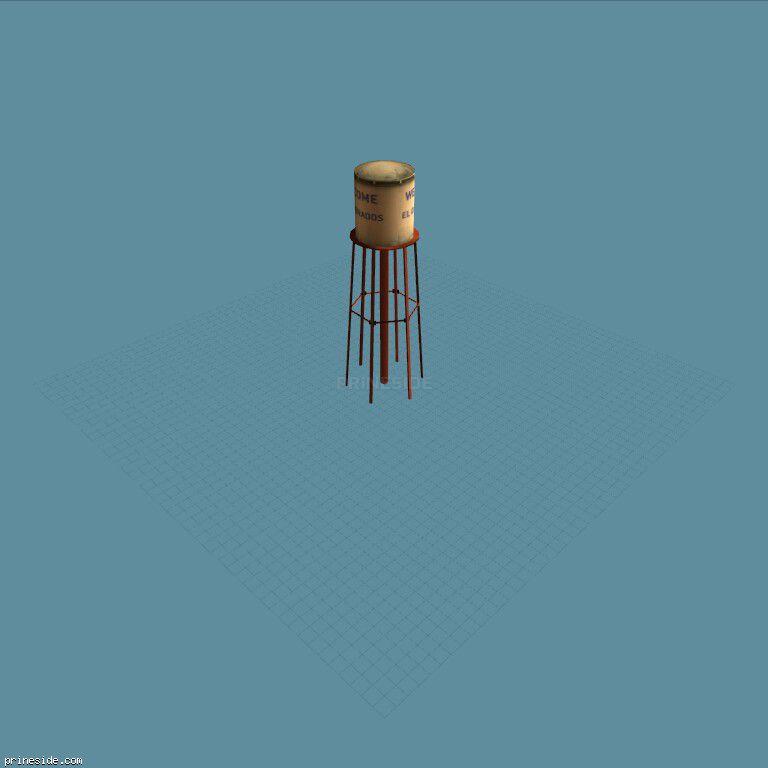 Водонапорная вышка (des_nwwtower) [11461] на темном фоне
