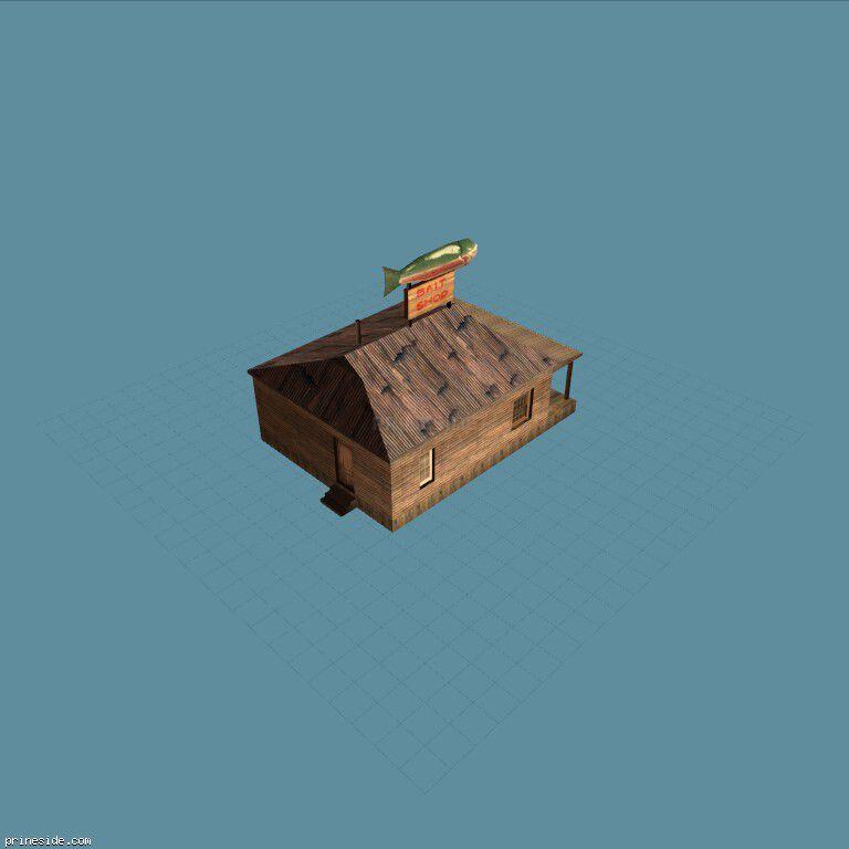 Shop fishing gear (des_baitshop) [11497] on the dark background