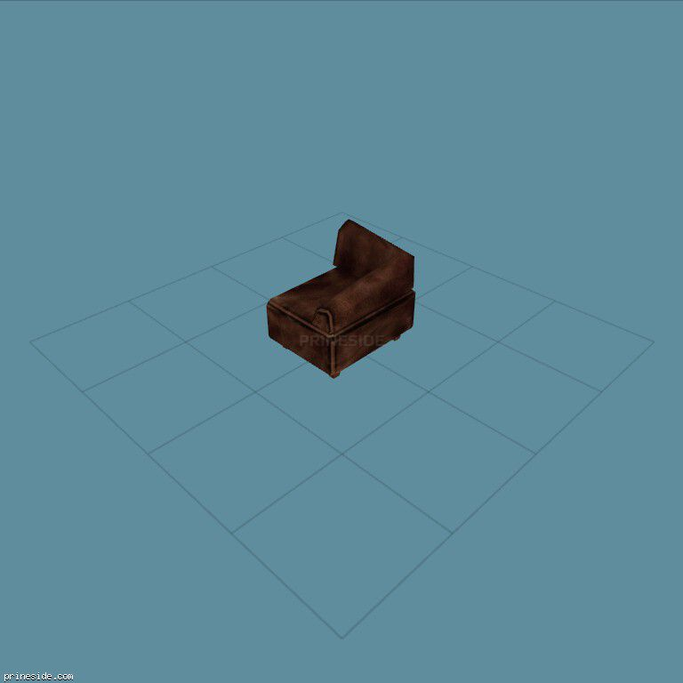 Brown corner chair (couch) (CutsceneCouch1) [11682] on the dark background