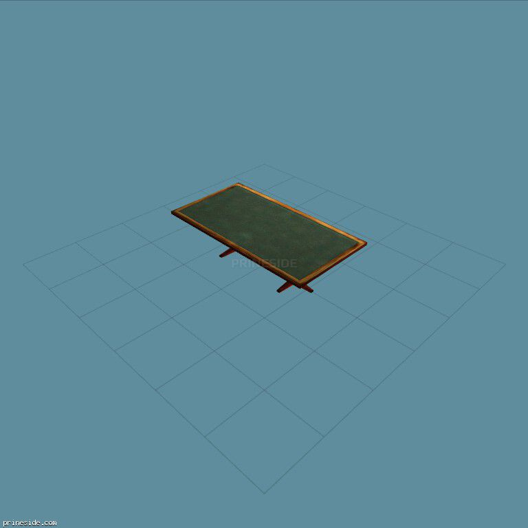 Rectangular green wooden table (CTable2) [11691] on the dark background