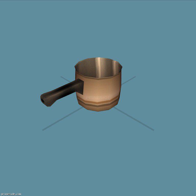 Turk for brewing coffee (SweetsSaucepan2) [11719] on the dark background
