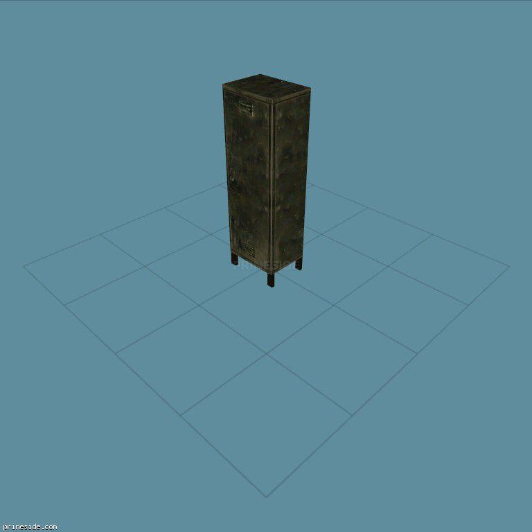Iron wardrobe (GymLockerClosed1) [11729] on the dark background
