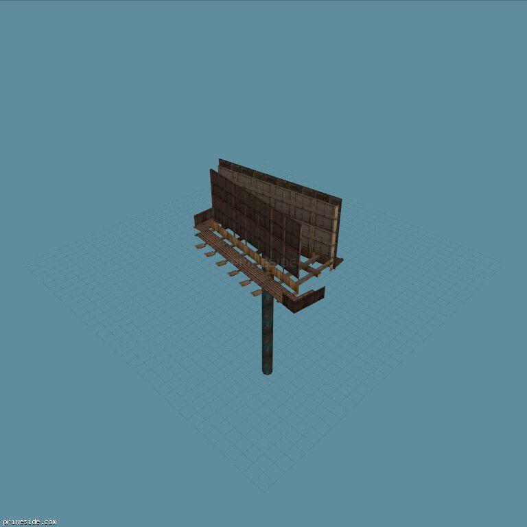 Большой двухсторонний биг-борд без изображения (BillBd2) [1267] на темном фоне