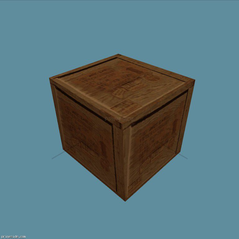 Wooden square box with arms (gunbox) [1271] on the dark background