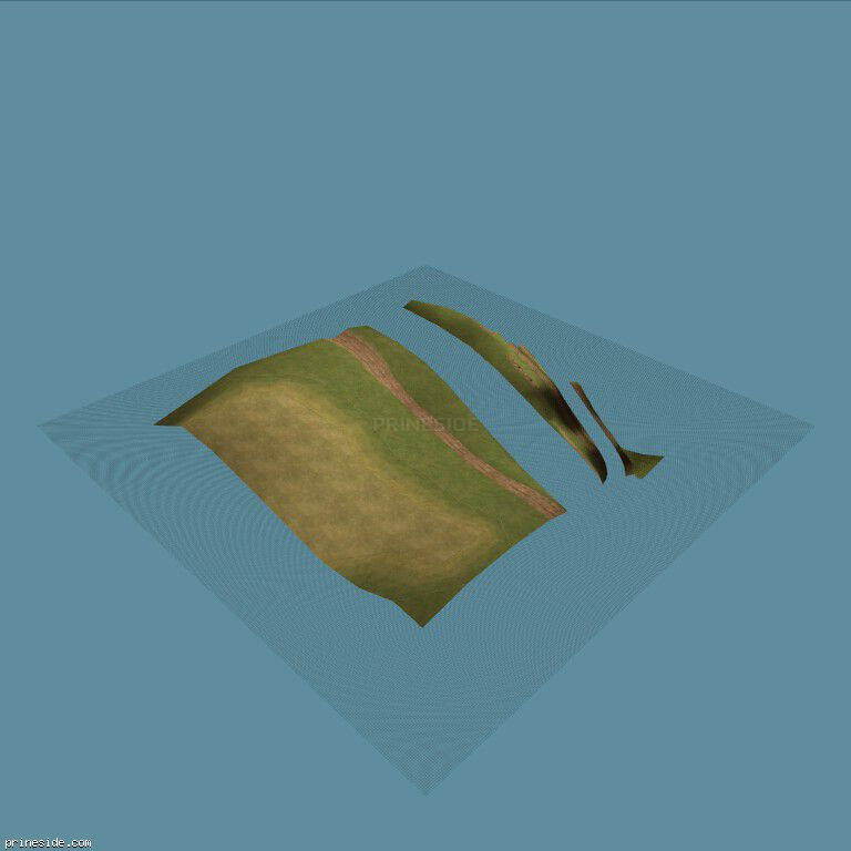 Часть ландшафта с травой и дорогой (CE_grndPALCST08) [13124] на темном фоне