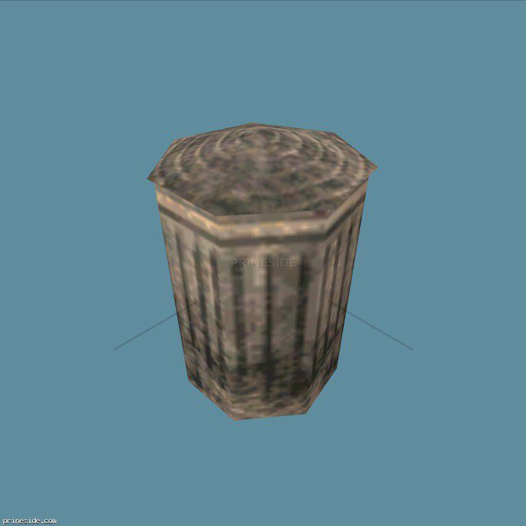 Небольшой мусорный бак (BinNt10_LA) [1328] на темном фоне