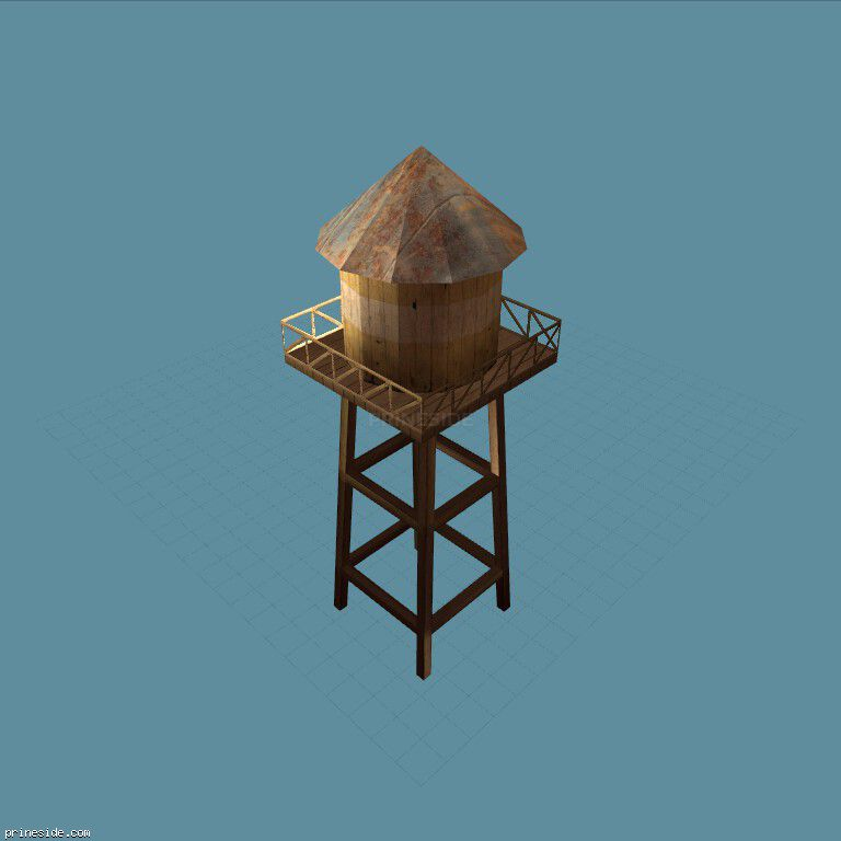 Tower for water storage (sw_watertower01) [13367] on the dark background