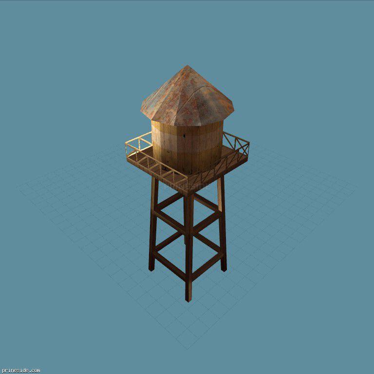 Башня для хранения воды (sw_watertower01) [13367] на темном фоне
