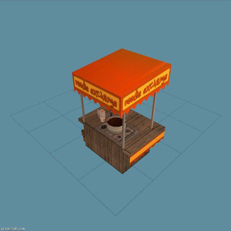 Продовольственная лавка с хот-догами (noodlecart_prop) [1342] на темном фоне