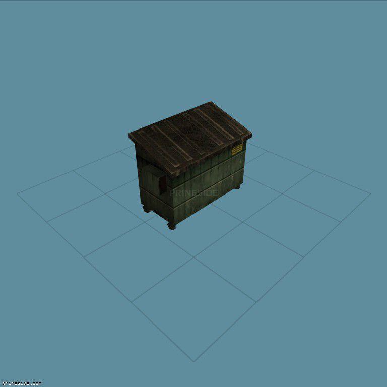 Мусорный бак (CJ_Dump2_LOW) [1372] на темном фоне