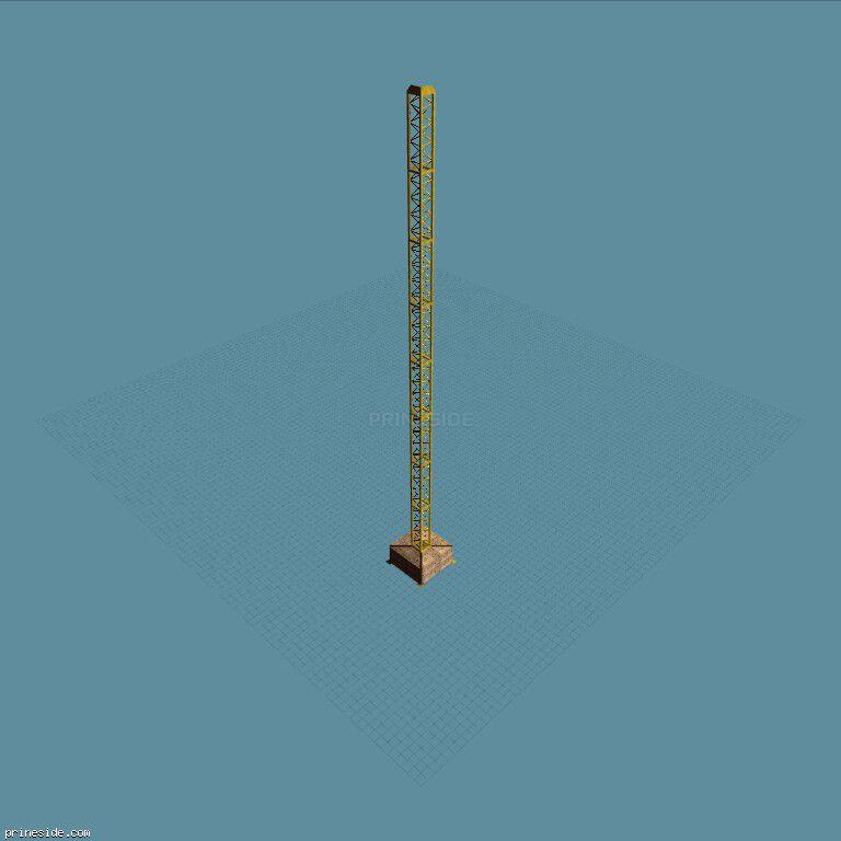 Опорная часть строительного крана (TwrCrane_L_03) [1395] на темном фоне