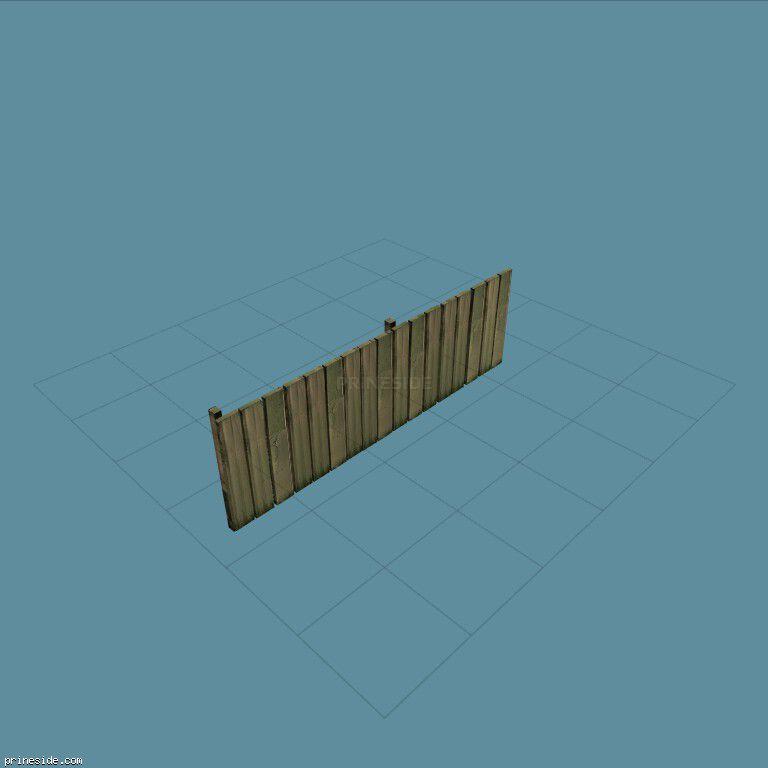 Деревянный забор (DYN_F_R_WOOD_4) [1446] на темном фоне