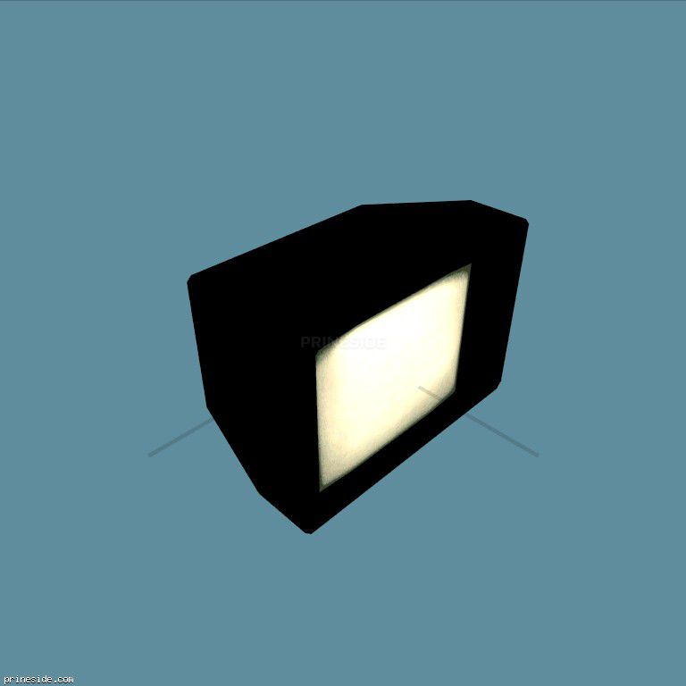 Old TV (int3int_LOW_TV) [14772] on the dark background