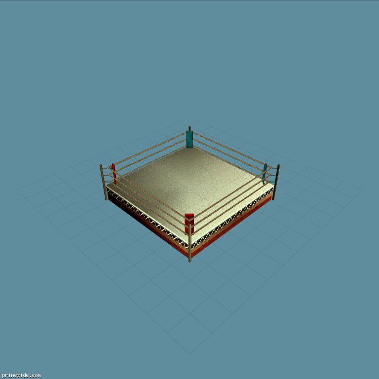 Boxing ring (in_bxing05) [14781] on the dark background