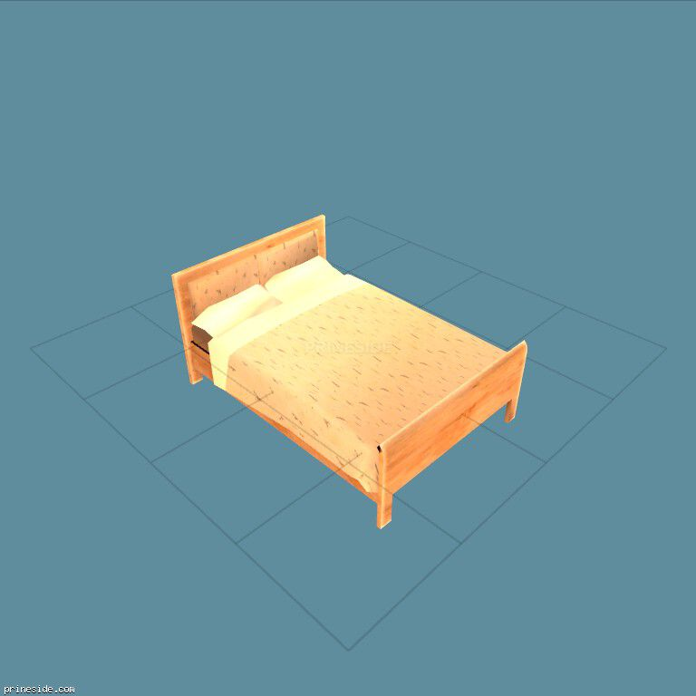 Bright double bed (bobbie-bed01) [14866] on the dark background