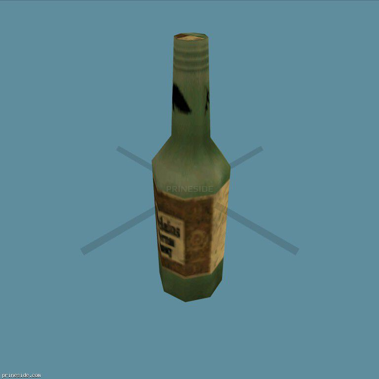 Bottle with alcohol  (DYN_BEER_1) [1486] on the dark background