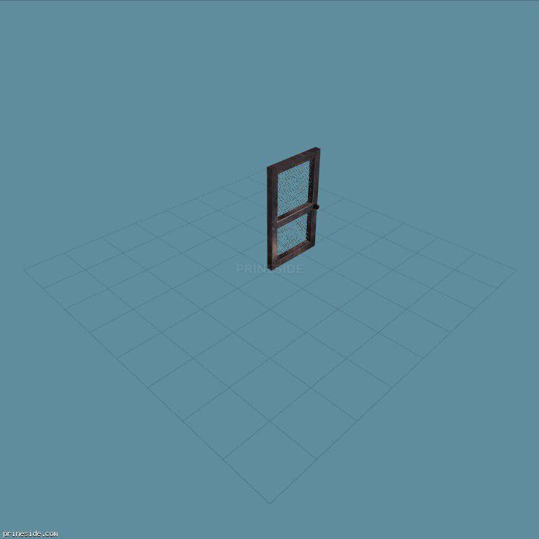 Lattice door (Gen_doorEXT01) [1495] on the dark background