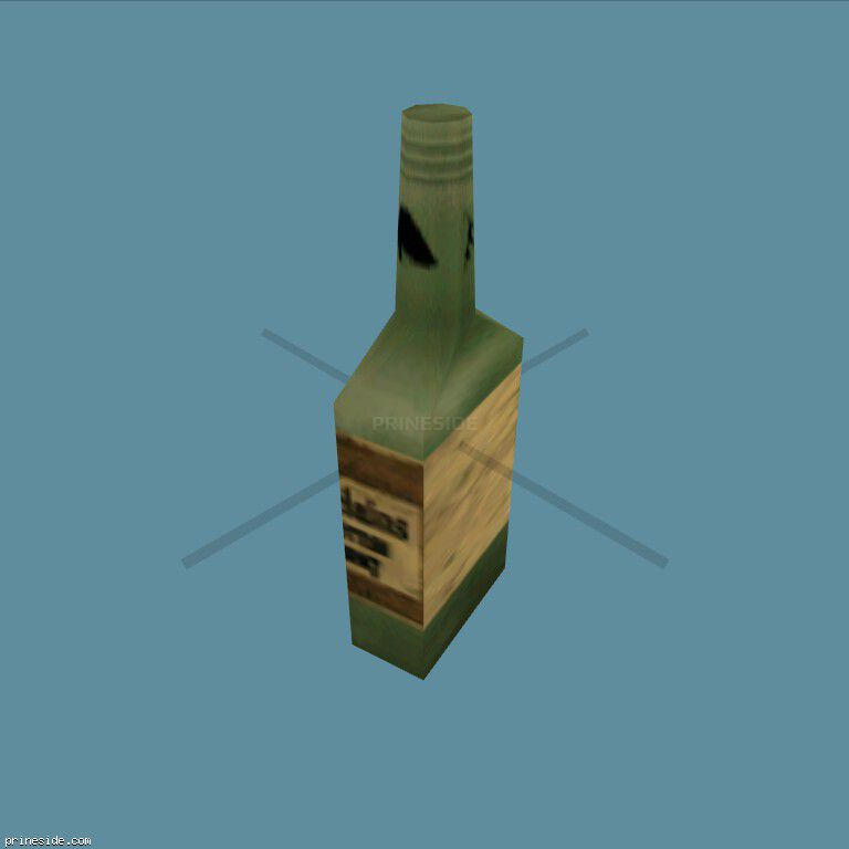 Зеленая бутылка с алкоголем (DYN_WINE_03) [1512] на темном фоне
