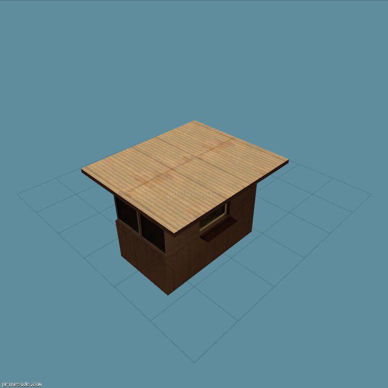 Небольшая будка (drvin_ticket) [16003] на темном фоне