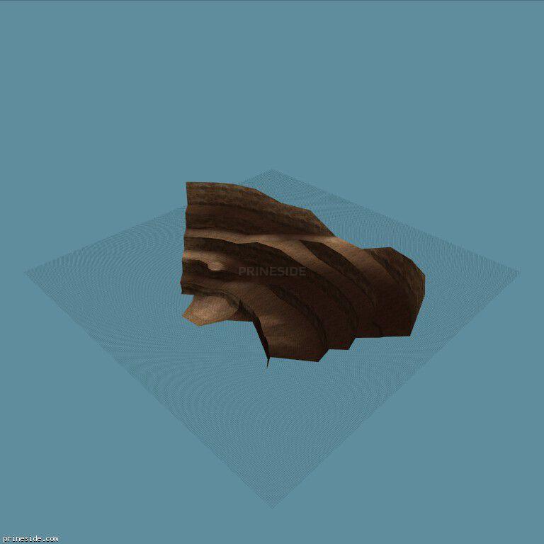 Часть карьерного ландшафта (quarry_bit04) [16055] на темном фоне