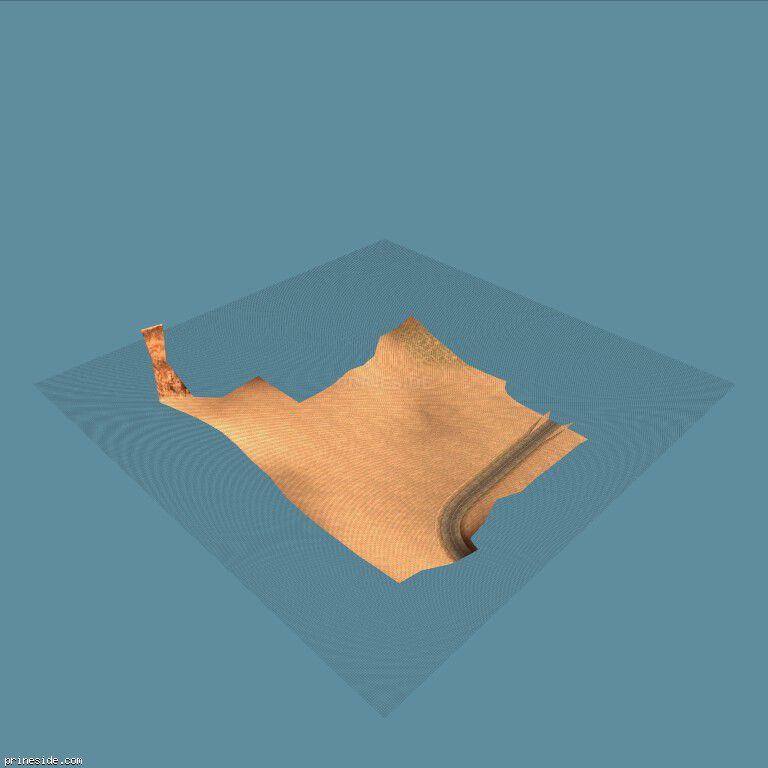 Участок земли из пустыни возле дороги и дюны (cen_bit_20) [16196] на темном фоне