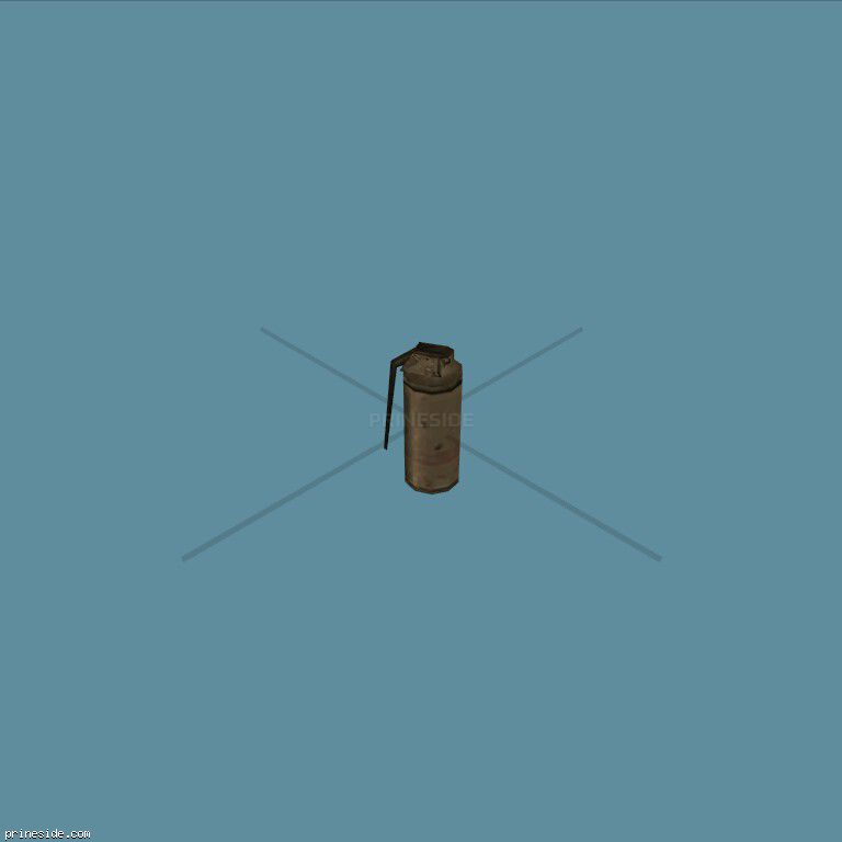 Smoke grenade (Gasgrenade) [1672] on the dark background