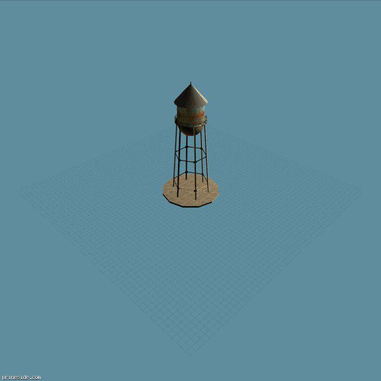 Башня для хранения воды (wt6suppsxc) [17000] на темном фоне