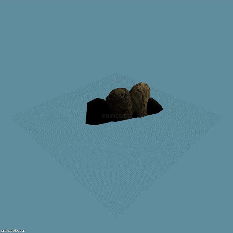 Камни большого размера (cunt_rockgp2_09) [17029] на темном фоне
