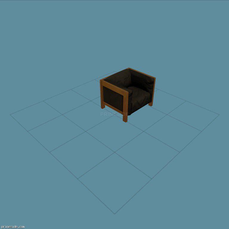 Upholstered chair black (mrk_seating1b) [1724] on the dark background