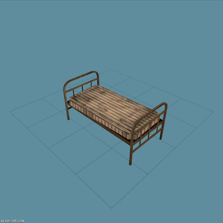 Bed with mattress (CJ_bunk_bed1) [1771] on the dark background