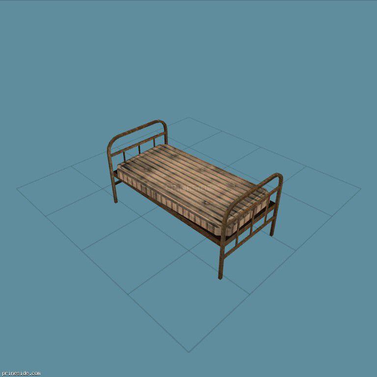 Кровать с матрацом (CJ_bunk_bed1) [1771] на темном фоне