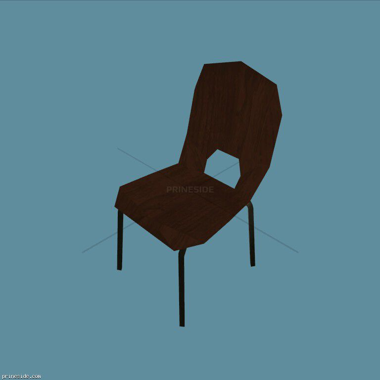Solid wooden chair (MED_DIN_CHAIR_5) [1811] on the dark background