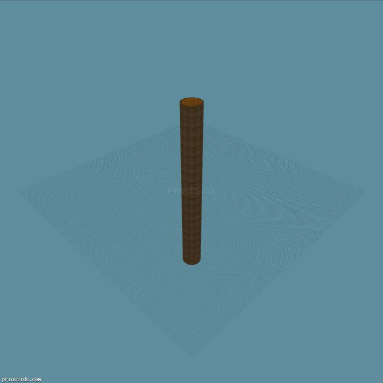 Long wooden pipe for racing with stunts (Tube100m1) [18852] on the dark background