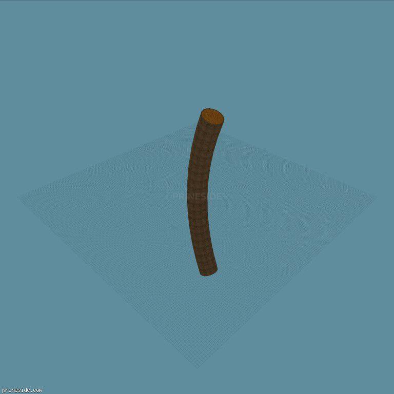 Изогнутая труба для стант-гонок, деревянная внутри (Tube100m45Bend1) [18853] на темном фоне