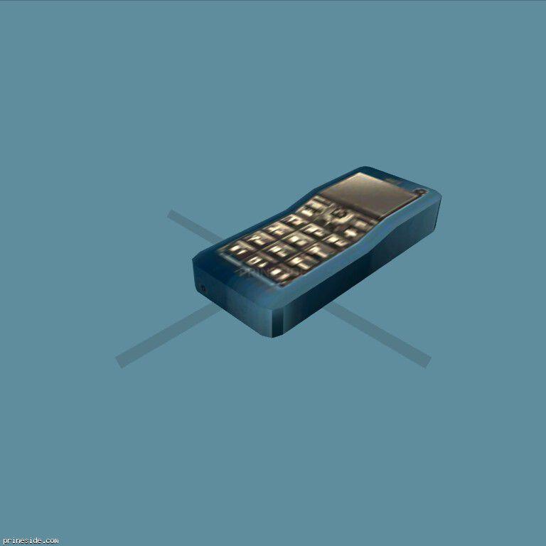 Синий мобильный телефон (MobilePhone2) [18866] на темном фоне