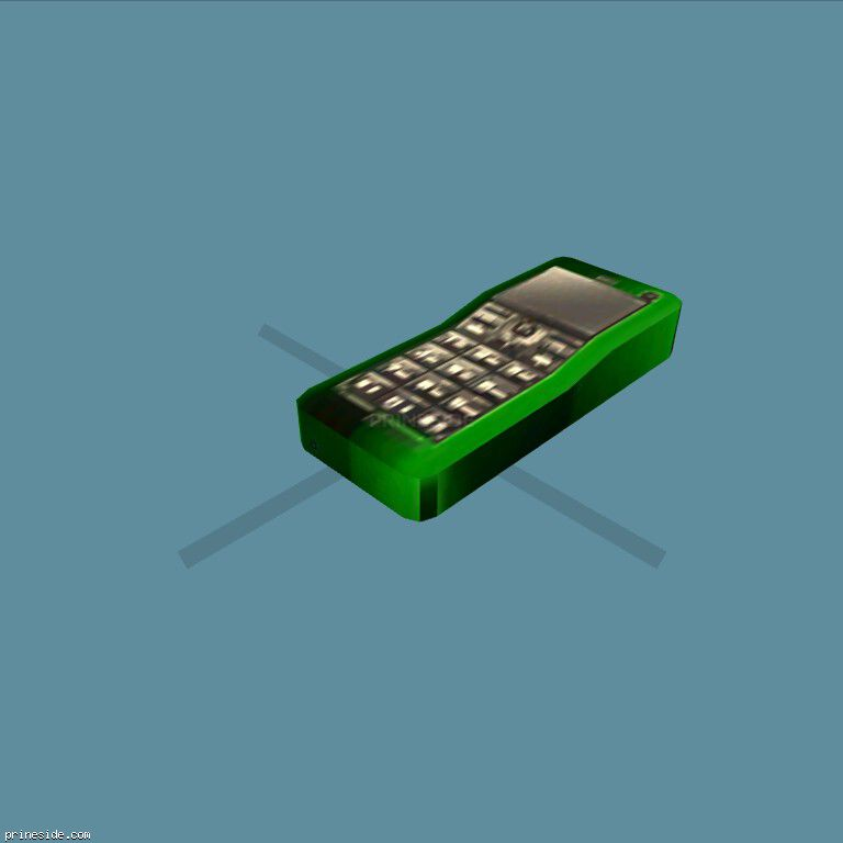 Green mobile phone (MobilePhone7) [18871] on the dark background