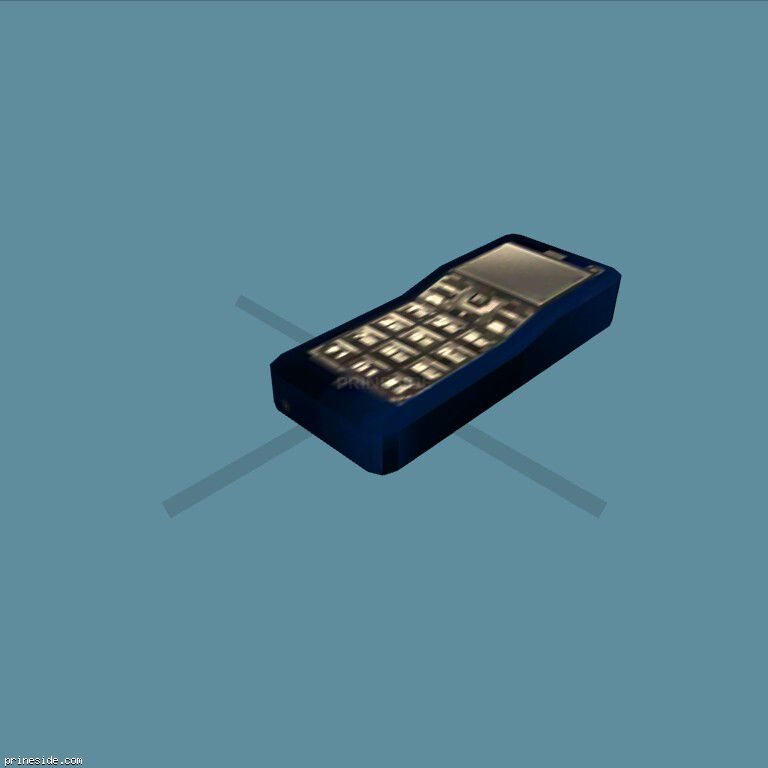 Blue mobile phone (MobilePhone8) [18872] on the dark background
