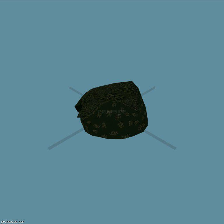 Black bandana (Bandana8) [18898] on the dark background