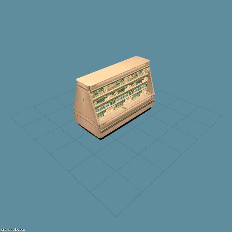 Holodilniy shelf for products (shop_dblshlf03) [1891] on the dark background