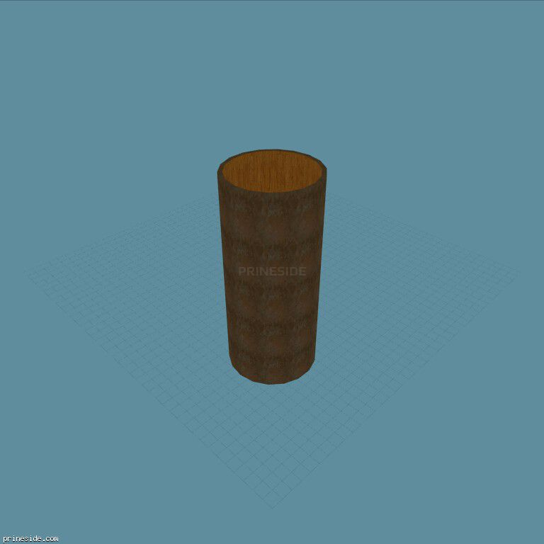 A large wooden pipe for stunts (Tube25m1) [18987] on the dark background