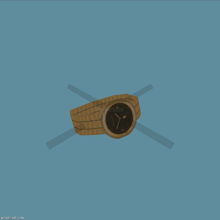 Golden, wrist watch  (WatchType4) [19042] on the dark background