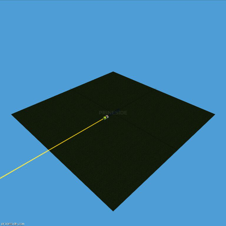 The laser beam is yellow (LaserPointer6) [19084] on the dark background