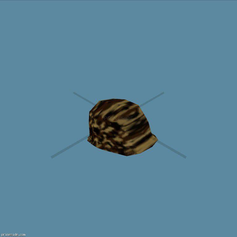 Шлем цветом лесного камуфляжа (ArmyHelmet8) [19108] на темном фоне