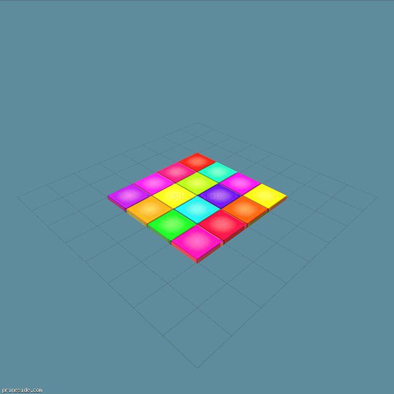 Небольшая танцевальная квадратная площадка (DanceFloor1) [19128] на темном фоне