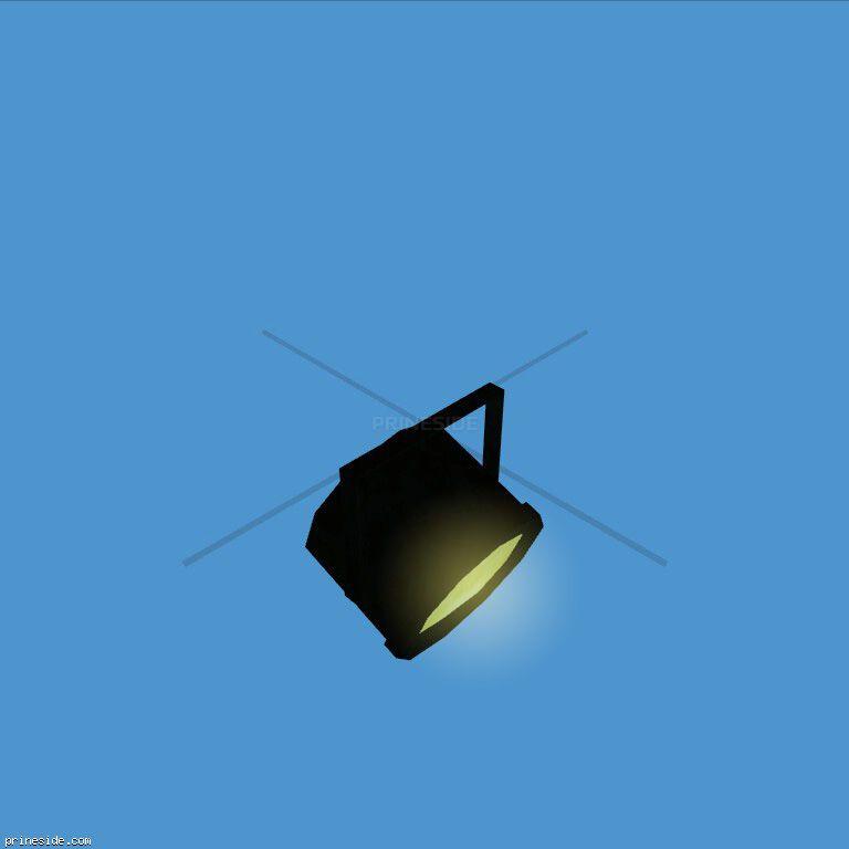 Желтый прожектор, который постоянно светится (PinSpotLight1) [19143] на темном фоне