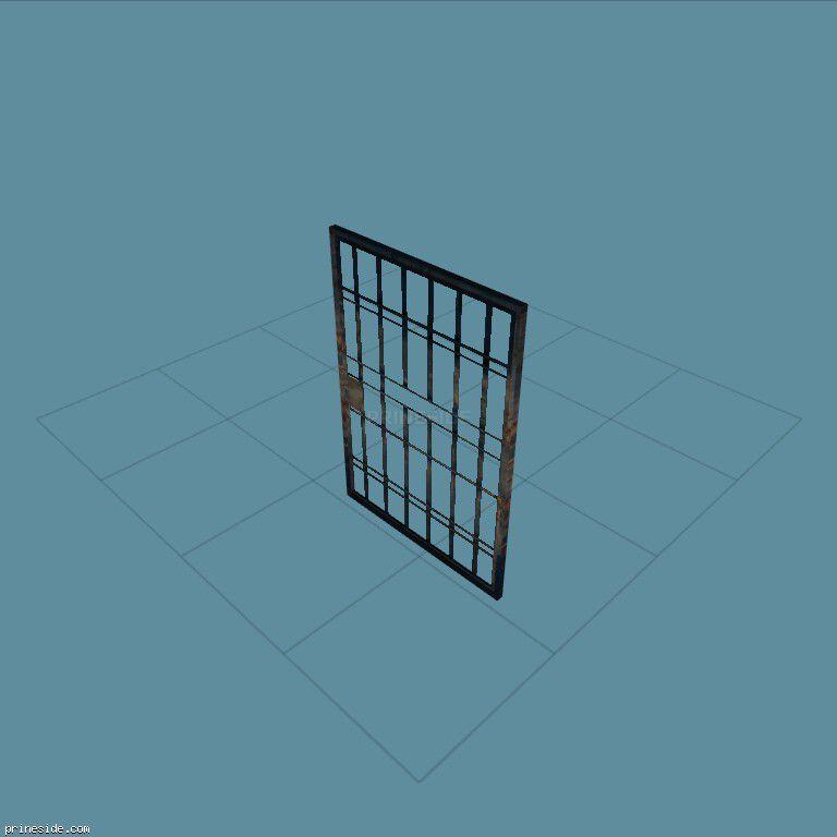 Prison metal lattice door (pd_jail_door02) [19303] on the dark background